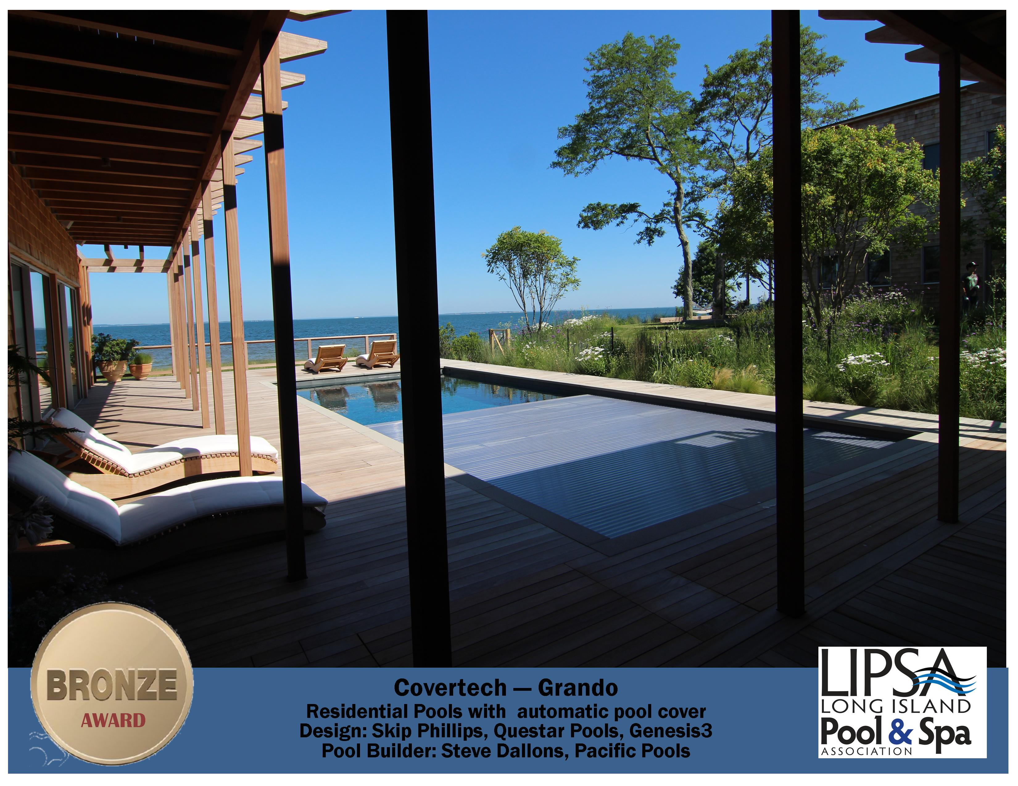 Covertech - Grando automatic rigid free form pool cover Bronze Award Long Island Pool & SPA 2016