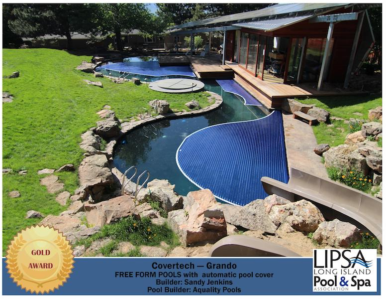 Covertech - Grando automatic rigid free form pool cover GOLD2 Award Long Island Pool & SPA 2016