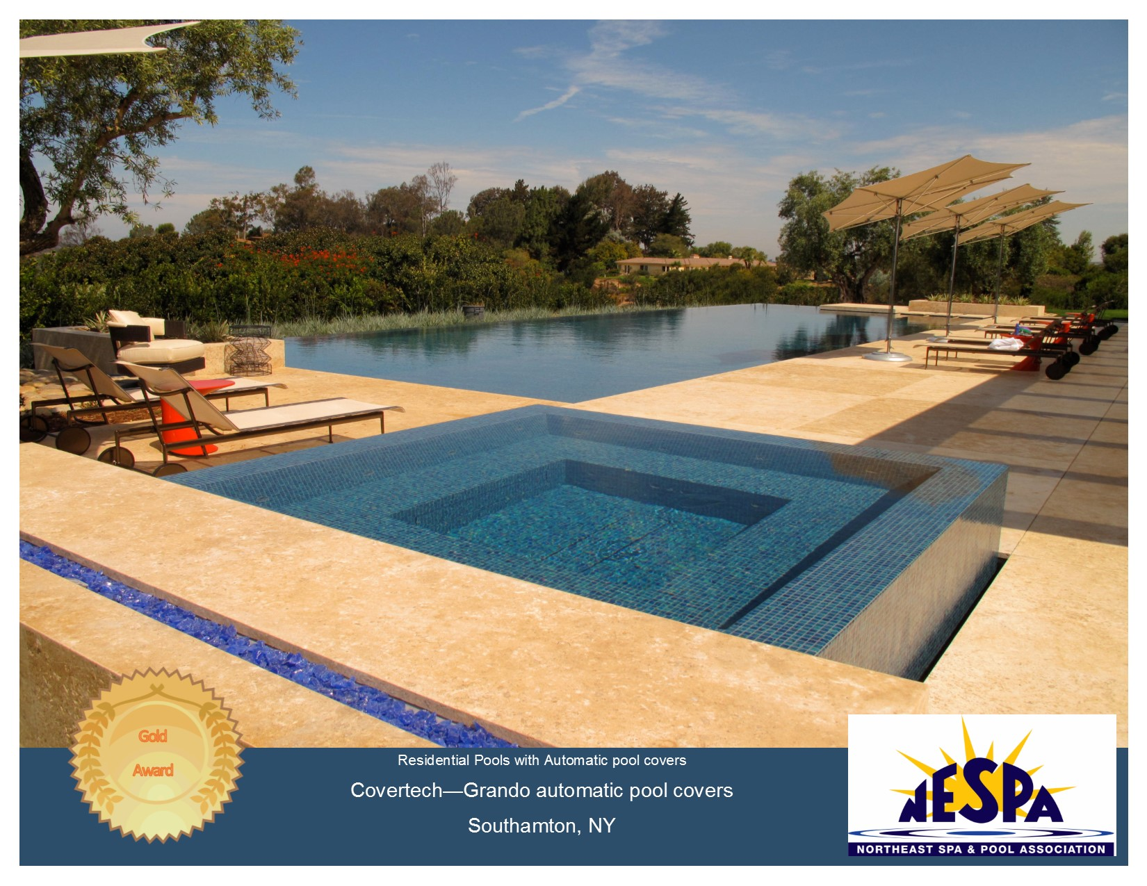 Covertech - Grando automatic rigid free form pool cover GOLD2 Award North East Pool & SPA 2016