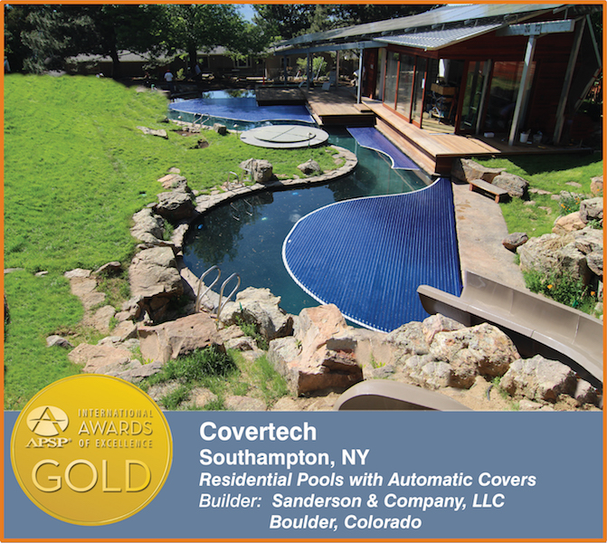 Covertech Grando automatic rigid pool cover International APSP Silver Award 2016