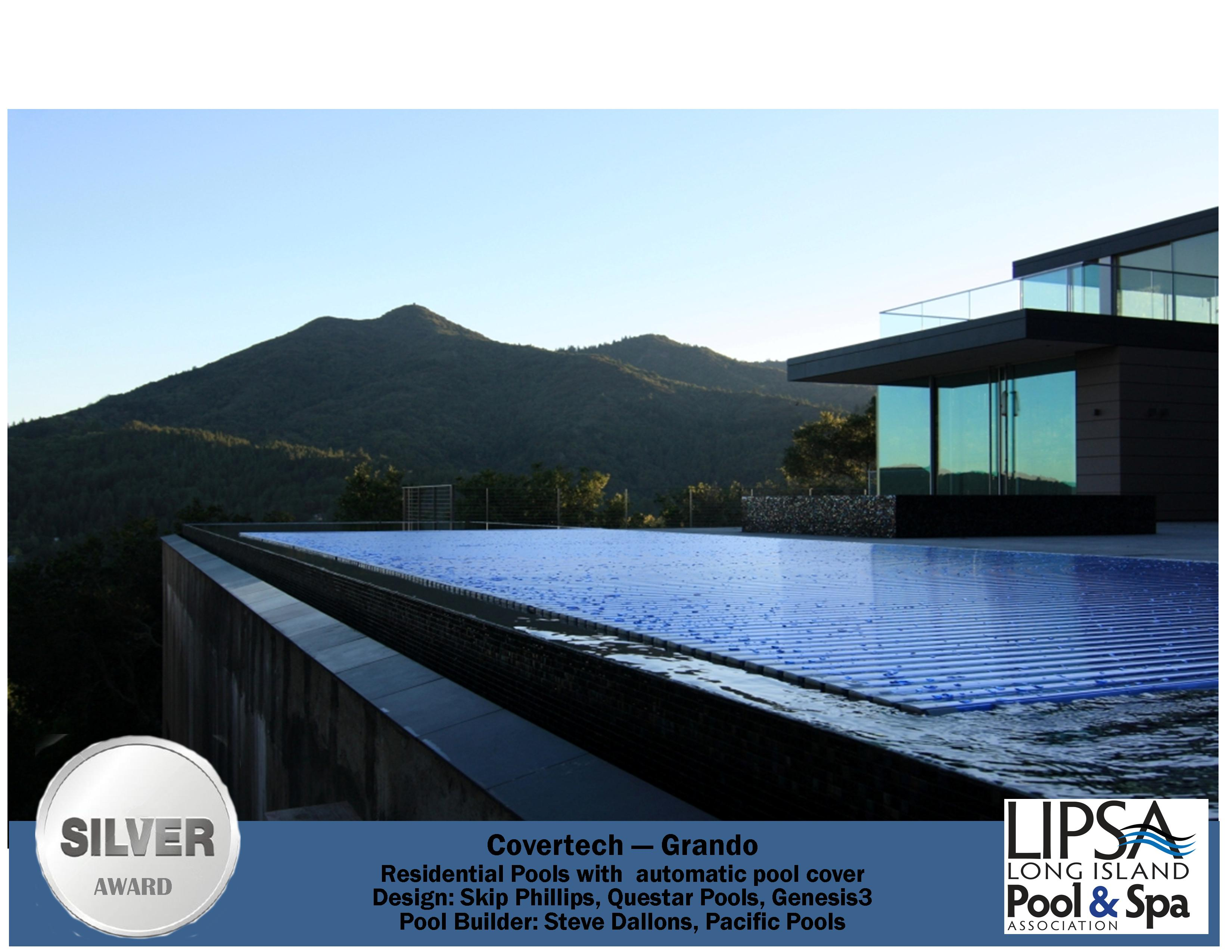 Covertech - Grando automatic rigid free form pool cover Silver Award Long Island Pool & SPA 2016