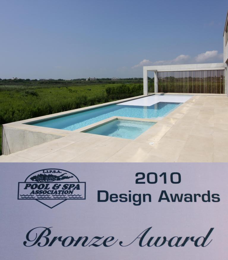 Covertech Bronze LISPA Traditional Pools with automatic pool cover