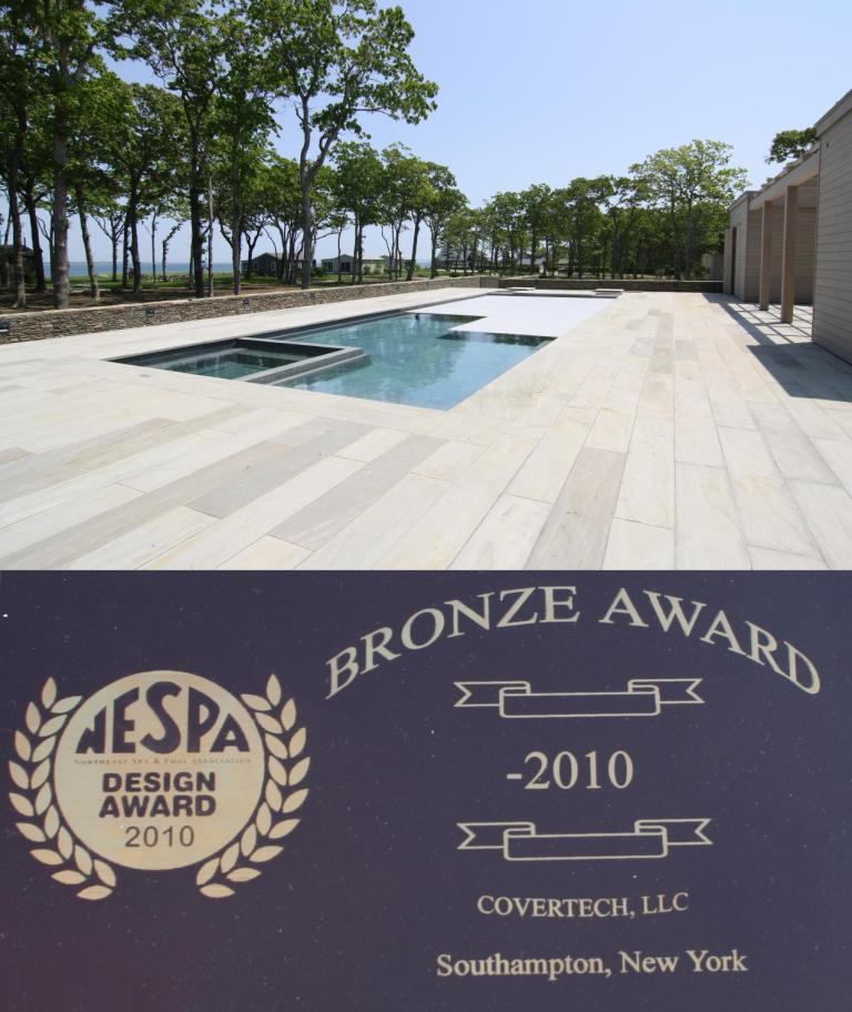 Covertech Bronze NESPA 2 Long Island Res Pools with automatic pool cover