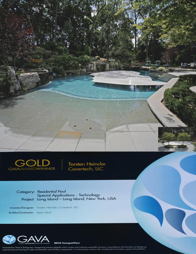 Covertech Gold Award 2010 rigid automatic pool cover