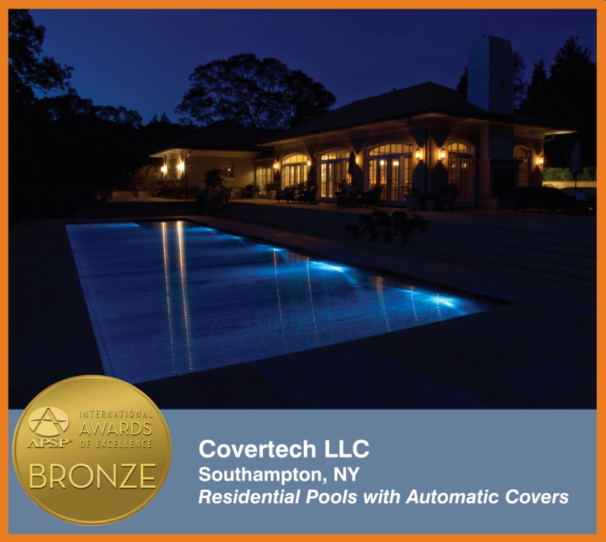 Covertech Grando automatic pool cover International Bronze 02 Awards Excellence APSP 2014
