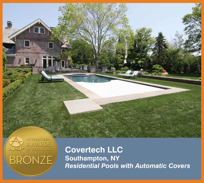 Covertech Grando automatic pool cover International Bronze 03 Awards Excellence APSP 2014