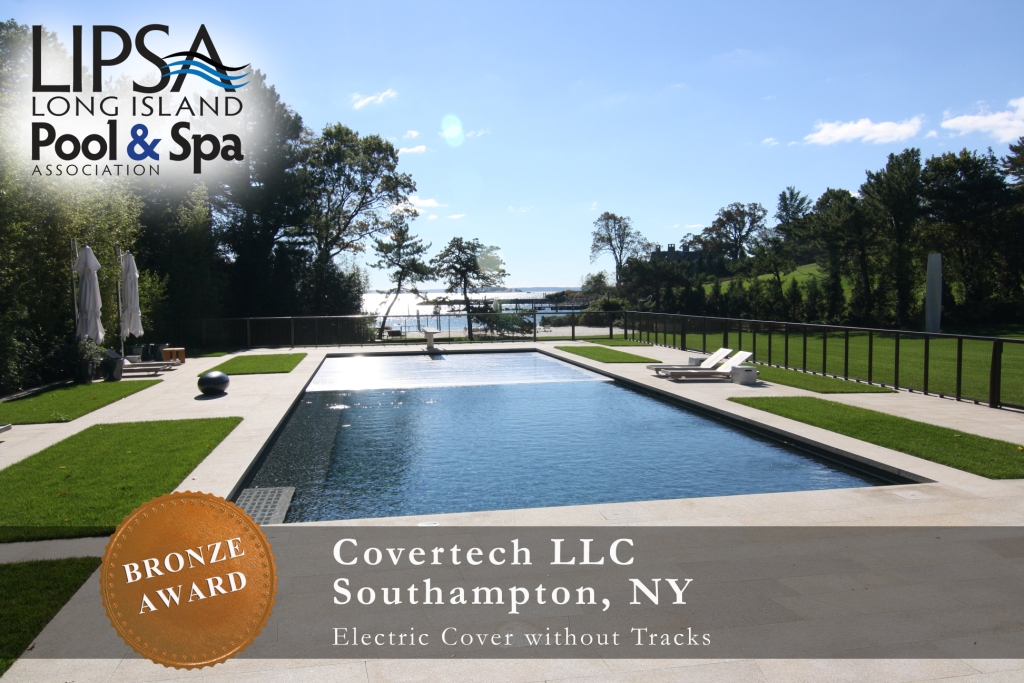 Covertech Grando automatic pool cover Long Island Pool & SPA Bronze Award 2014