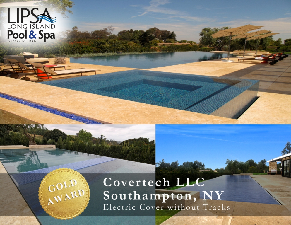 Covertech Grando automatic pool cover Long Island Pool & SPA GOLD Award 2014