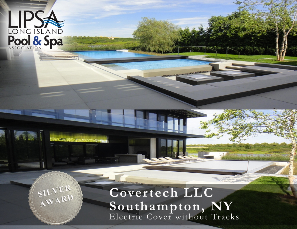 Covertech Grando automatic pool cover Long Island Pool & SPA Silver Award 2014Covertech Grando automatic pool cover Long Island Pool & SPA Silver Award 2014