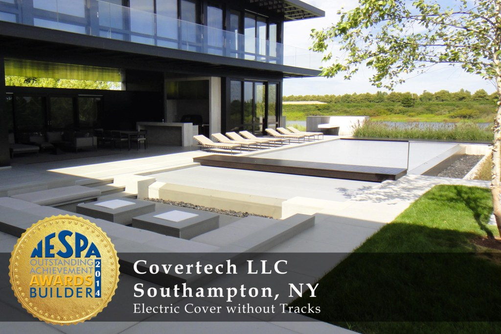 Covertech Grando automatic pool cover NE Pool & SPA Gold2 Award 2014
