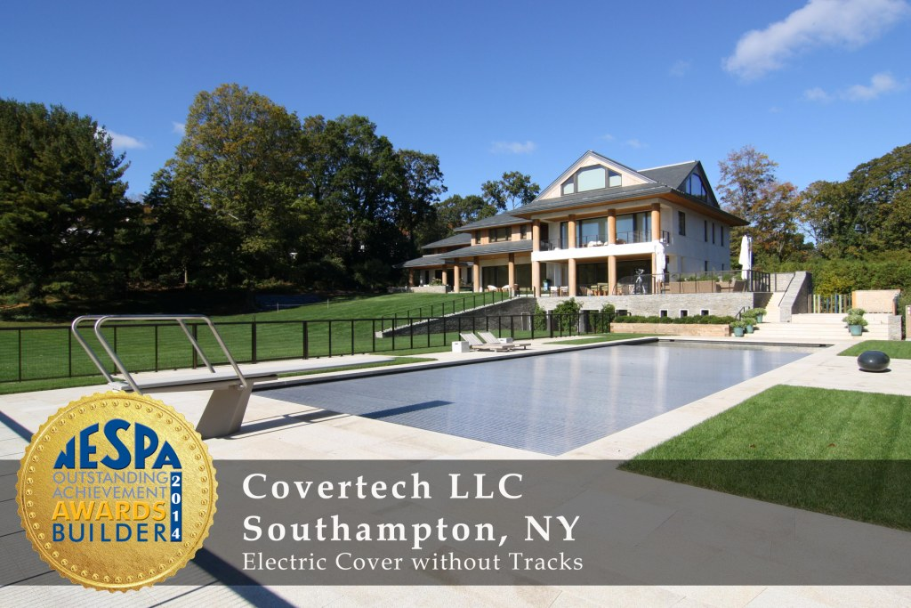Covertech Grando automatic pool cover NE Pool & SPA Gold4 Award 2014