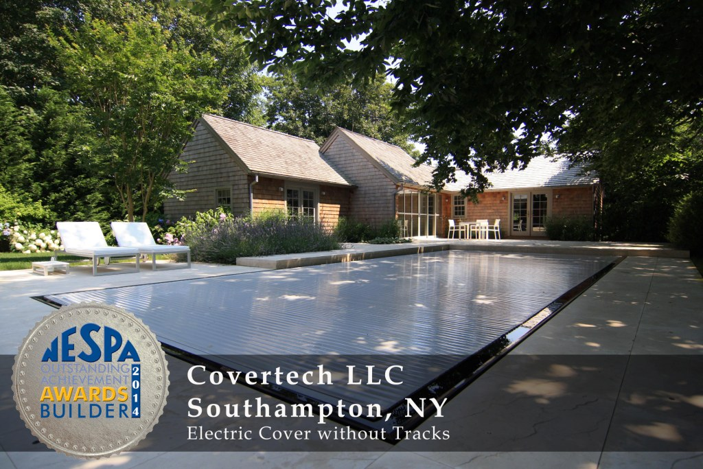 Covertech Grando automatic pool cover NE Pool & SPA Silver1 Award 2014