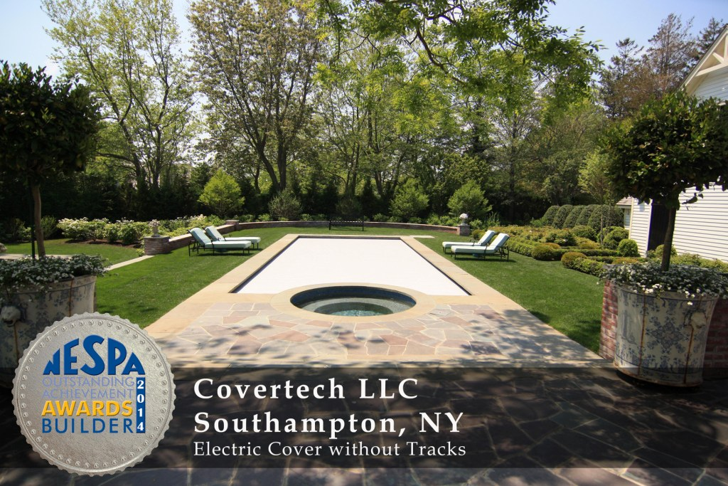 Covertech Grando automatic pool cover NE Pool & SPA Silver2 Award 2014