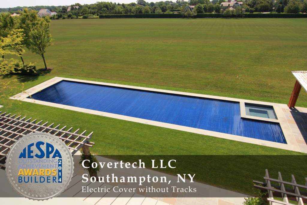 Covertech Grando automatic pool cover NE Pool & SPA Silver3 Award 2014