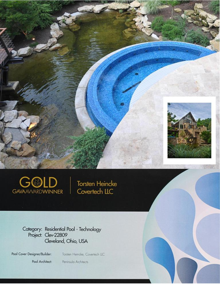Covertech Grando automatic rigid pool cover International GAVA Pool Cover Gold Award 2011