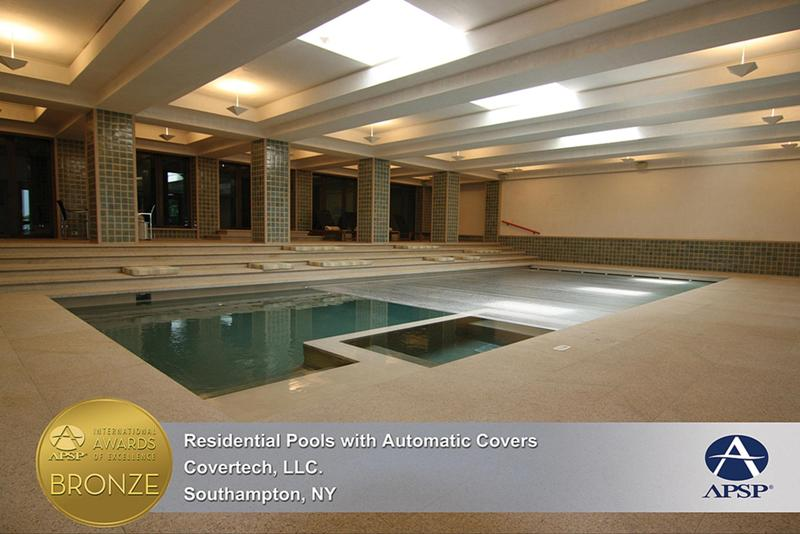 Covertech Grando automatic rigid pool cover International pool cover APSP Bronze Award 2013