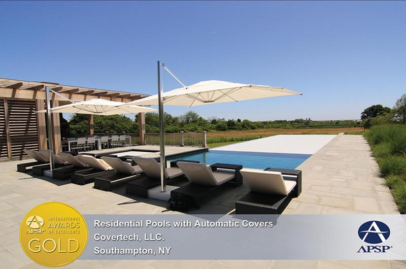 Covertech Grando automatic pool cover International Pool Cover APSP Gold Award 2012