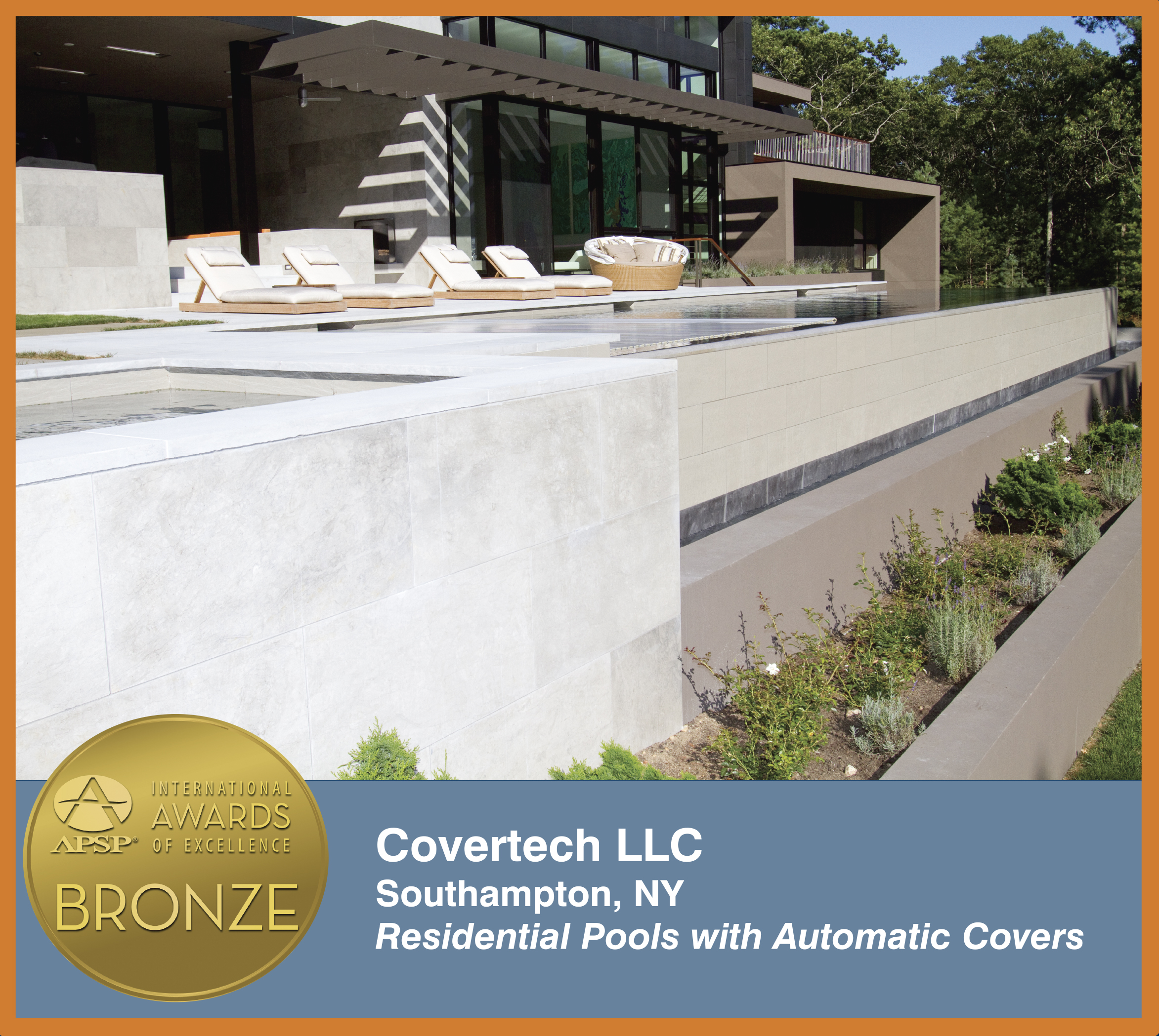 Covertech Grando automatic rigid slated pool cover International APSP Bronze1 Award 2014