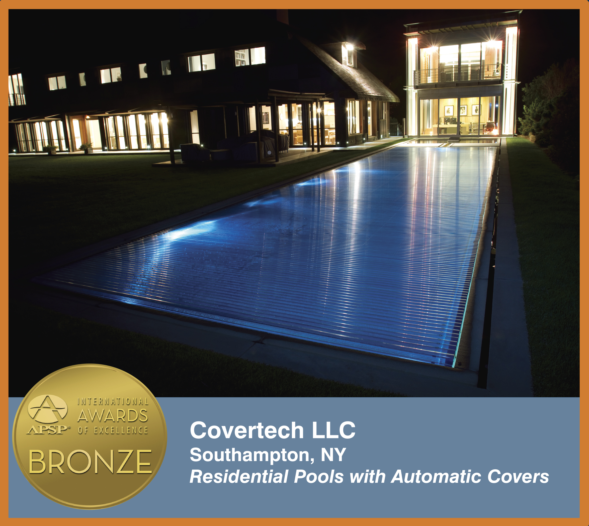 Covertech Grando automatic rigid slated pool cover International APSP Bronze2 Award 2014