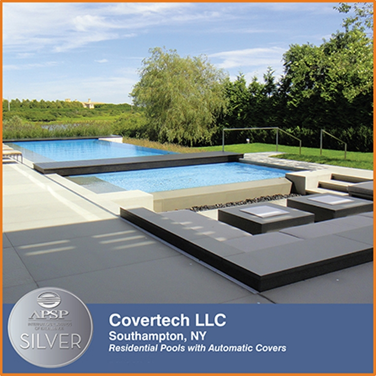 Covertech Grando automatic rigid slatted pool covers APSP International Silver Award 2016